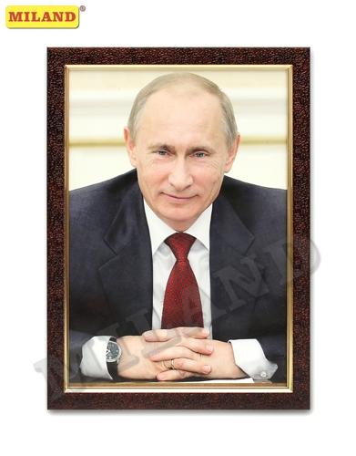Портрет Президент РФ А4 в рамке под стеклом