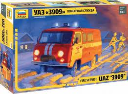 """Сборная модель Пожарная служба УАЗ """"3909"""" 1/43"""