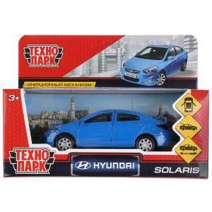 Машина Hyundai Solaris металл 12см, открыв. двери, инерц., синий