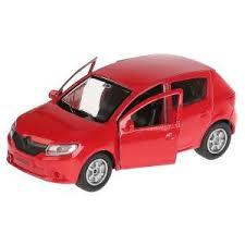 Машина Hyundai Santafe металл 12см, открыв. двери, инерц, красный