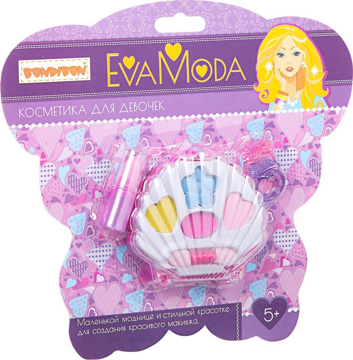 Набор детской декоративной косметики Bondibon Eva Moda ракушка с тенями