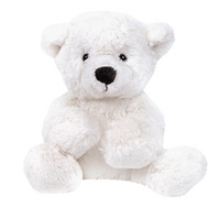 Мягконабивная Медведь белый, лежачий 23см