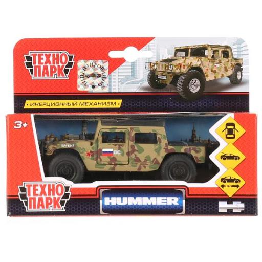 Машина Hummer H1 Пикап военный 12см, металл, открыв. двери, инерц.