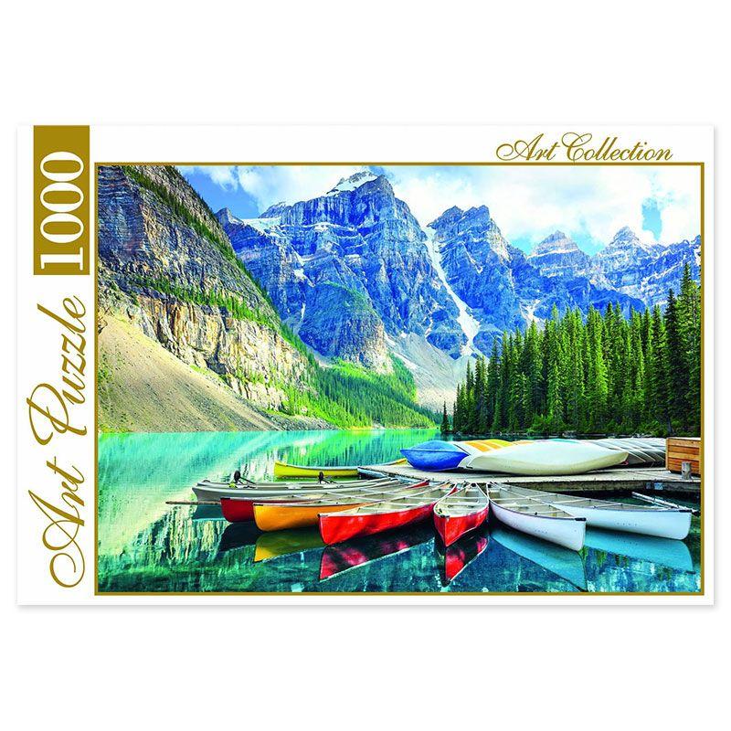 Пазл 1000 Artpuzzle Горное озеро и лодки
