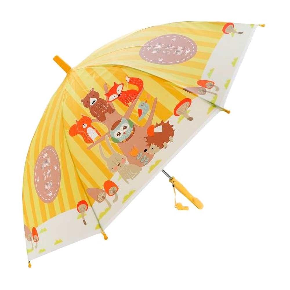 Зонт детский Лесная семейка 48см свисток полуавтомат