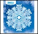 Наклейка НГ 080.858 Снежинка двусторонняя глит