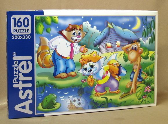 Пазл 160 Astrel 02273 Енот и обезьянка