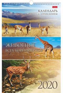 Календарь настенный 2020 12Кнп3гр_18483 Животные всех континентов