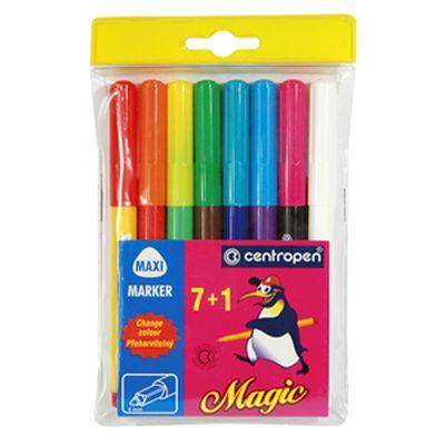 Фломастеры магические 7+1цв Centropen Magic в пл