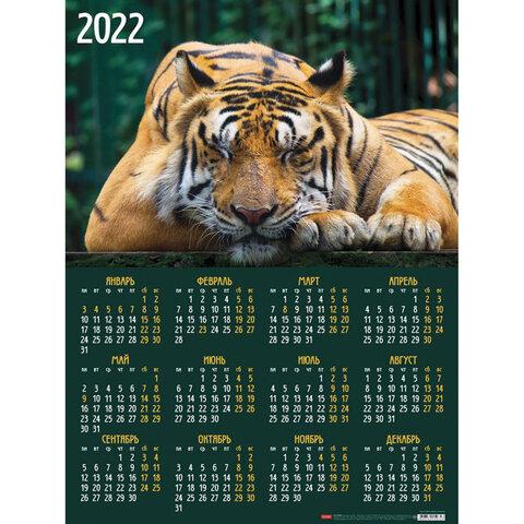 Календарь листовой 2022 Кл2_25936 Год Тигра