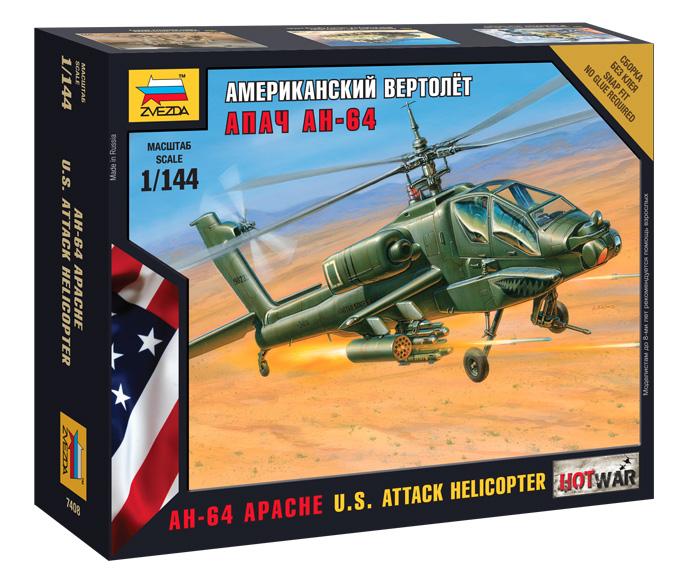 Сборная модель Американский ударный вертолет Апач АН-64 1/144