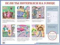 Плакат Если ты потерялся на улице: Наглядное пособие для начальной школы