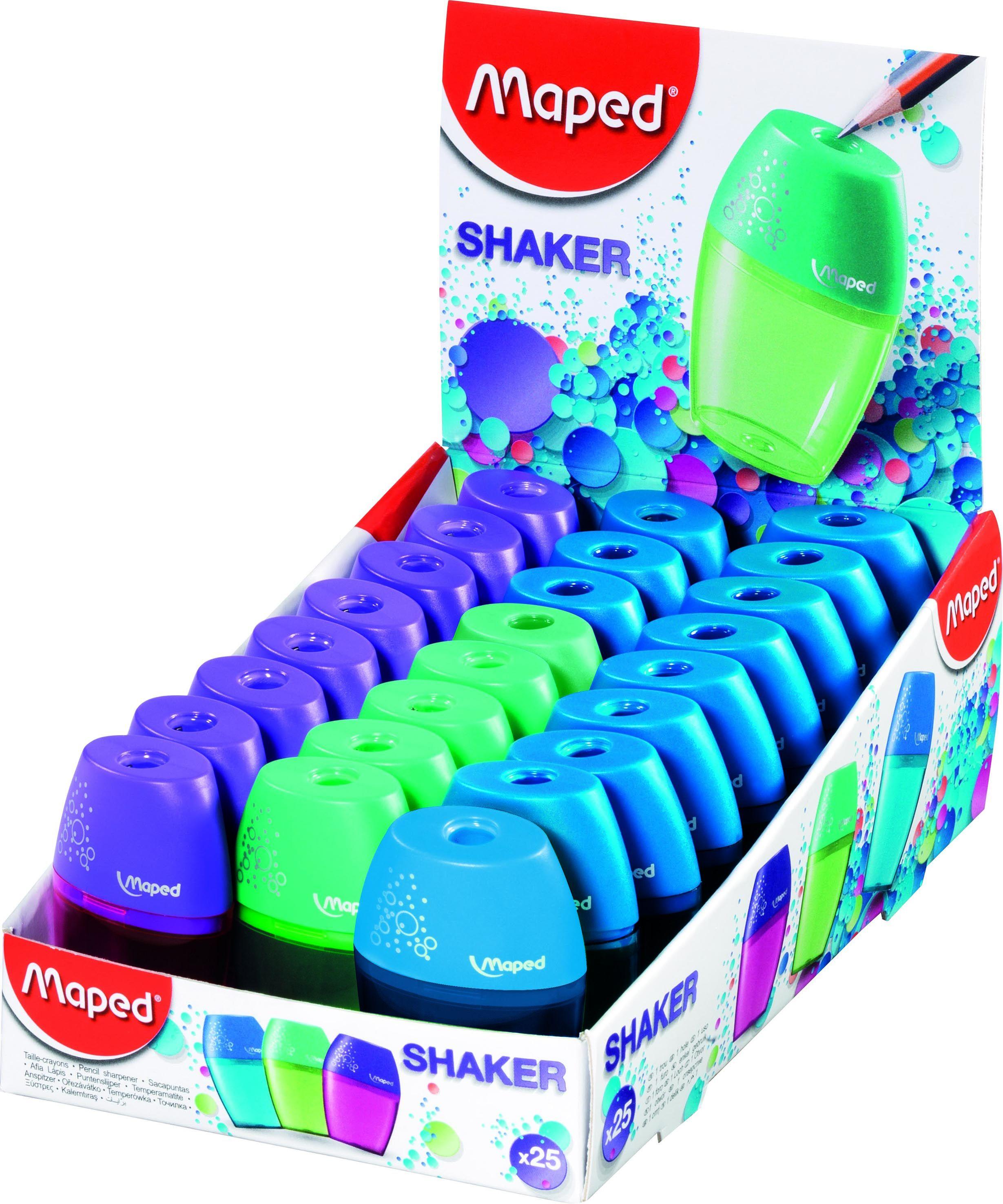 Точилка 1отв Maped Shaker Шейкер с контейнером