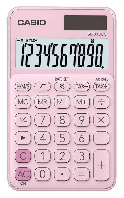 Калькулятор 10 разр. Casio карманный розовый