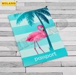 Обложка для паспорта Miland Фламинго ПВХ