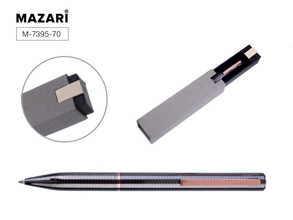 Ручка подар. Afina шарик поворот 0.7 метал корп черный футляр