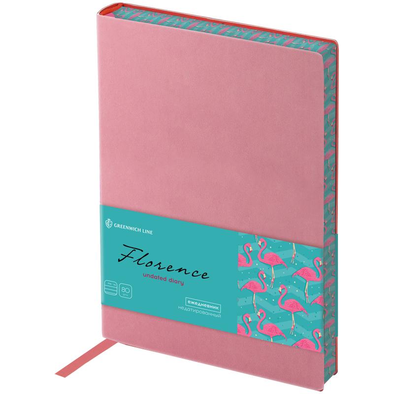 Ежедневник В6 Greenwich Line Florence розовый