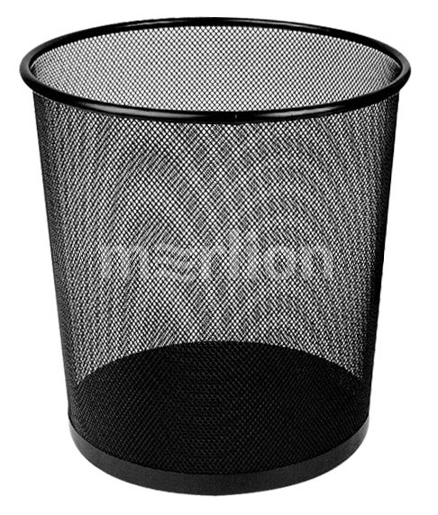 Корзина д/бумаг 12л Deli круглая метал сетка черный