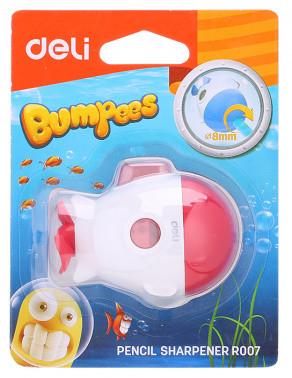 Точилка Deli Bumpees 1 отв пластик ассорти