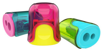 Точилка Deli U-touch 2 отв пластик ассорти