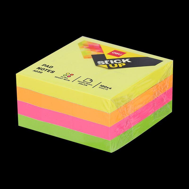 Блок д/записей Deli Stick UP 400л 4цв самокл в подставке