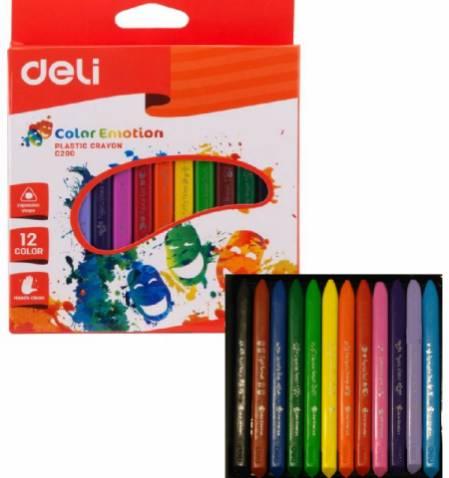 Мелки восковые 12цв Deli Color Emotion трехгранные