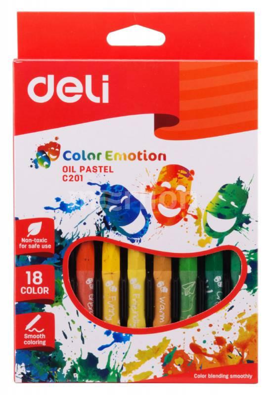 Пастель масляная 18цв Deli Color Emotion к/к