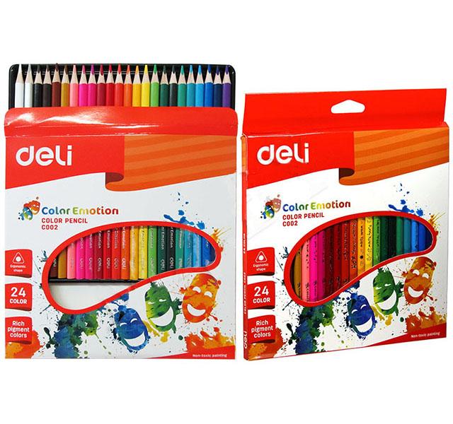 Карандаши цветные 24 цв акварел Deli Color Emotion