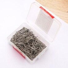 Кнопки-гвоздики 100шт никель пластик коробка