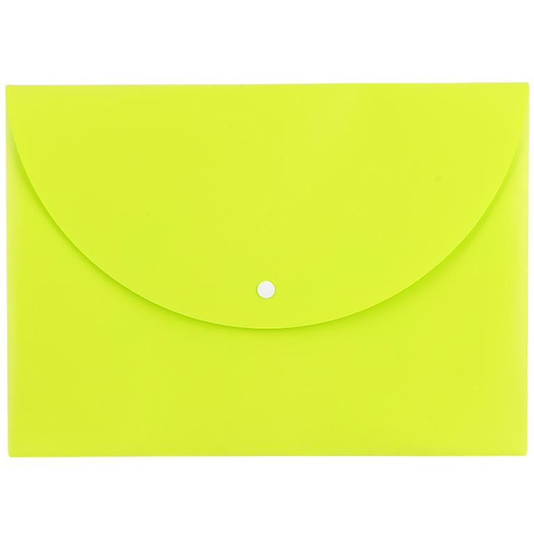 Папка-конверт А4 на кнопке Deli EC горизонт 0,18мкм ассорти