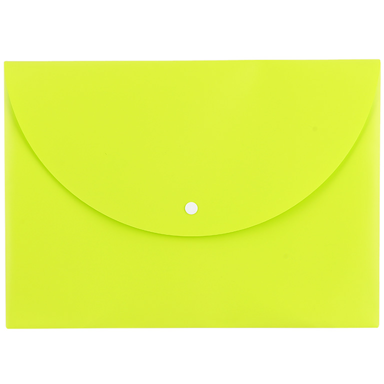Папка-конверт А4 Deli EC на кнопке горизонт расшир ассорти