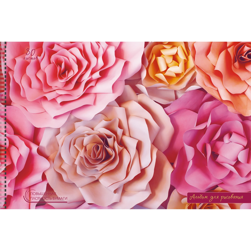 Альбом д/рис 40л спир Нежные розы 140г/м2