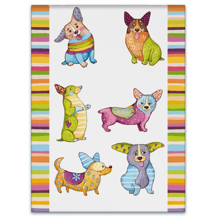 Блокнот А7 32л Цветные собачки