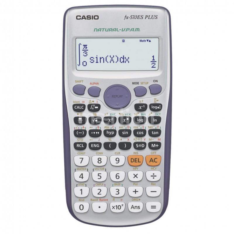 Калькулятор научный 10 разр. Casio серый