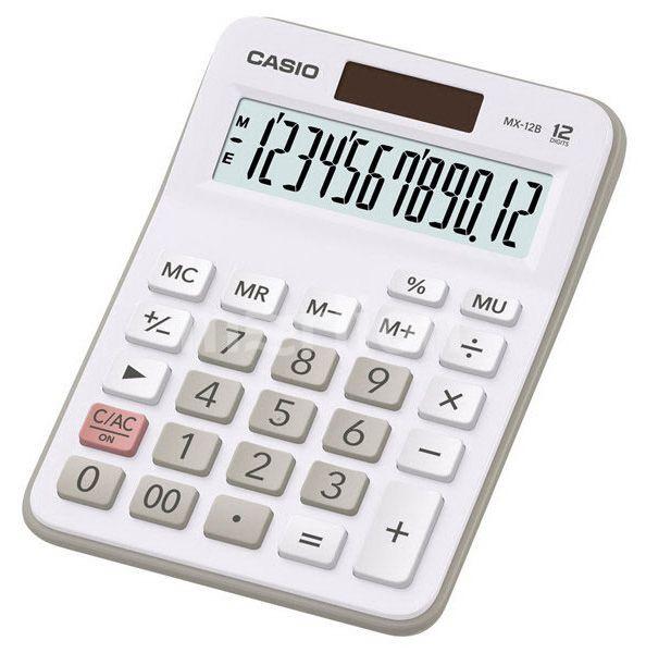 Калькулятор 12 разр. Casio настольный белый/серый