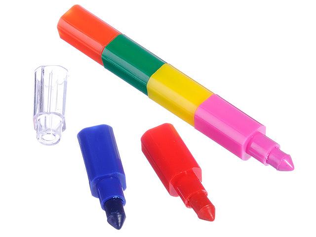 Мелок восковой сегментный составной 6 цветов