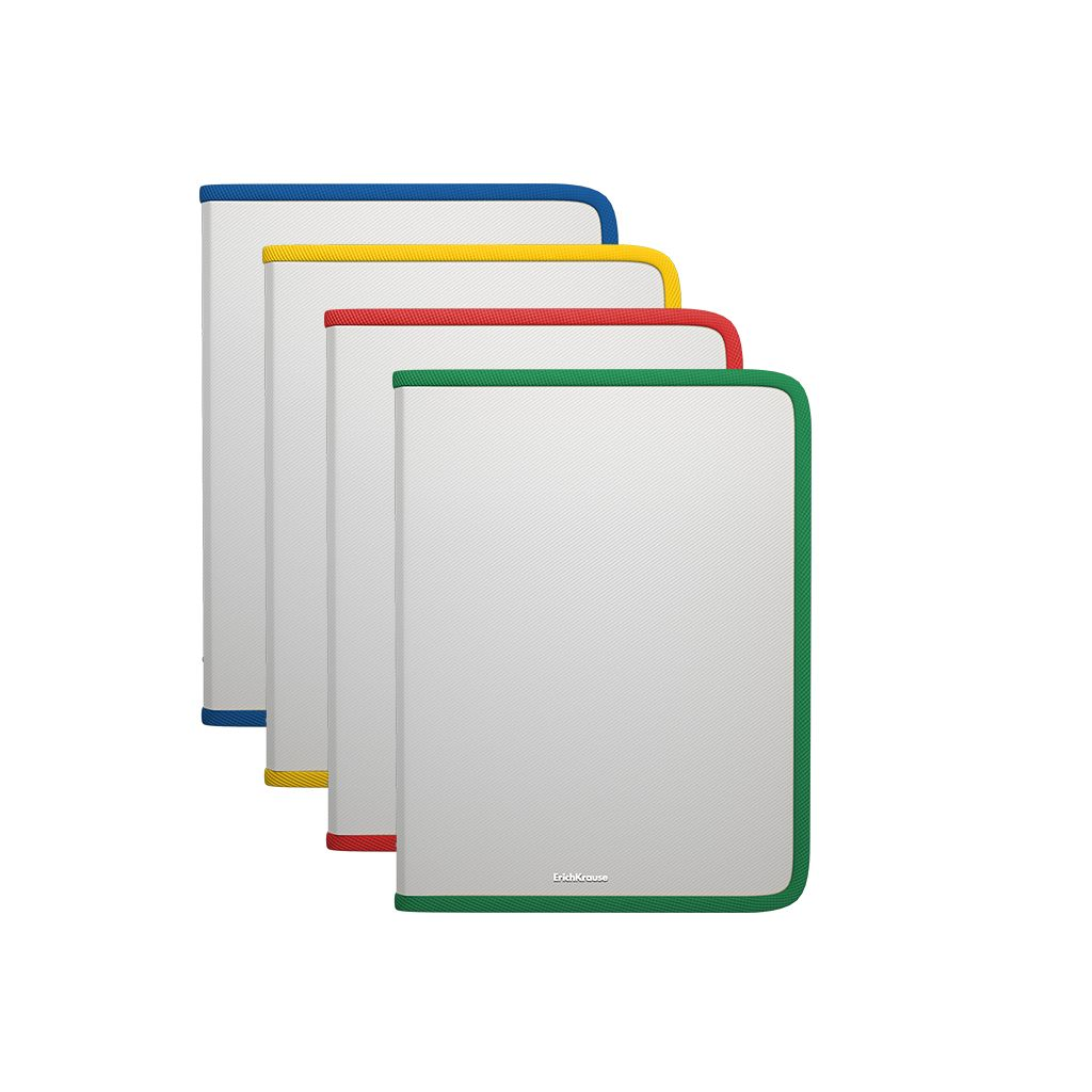 Папка для тетрадей А5 на молнии EK Glance Clear ассорти