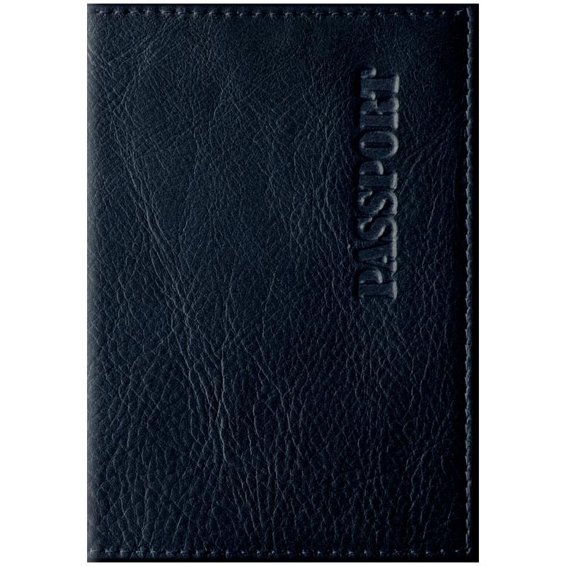 Обложка для паспорта Промо кожа черный