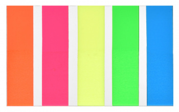 Блок липкий Закладки-разделители 5цв 20л 44*12мм
