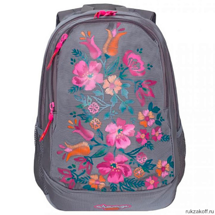 Рюкзак эргономич. Grizzly серый цветы