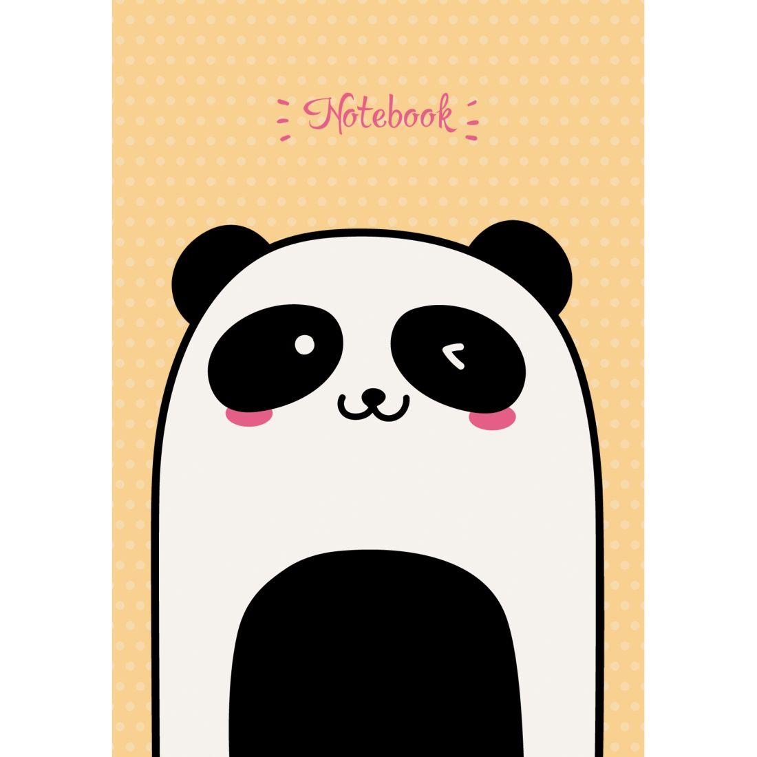 Зап. книжка А6 96л кл тв Милая панда