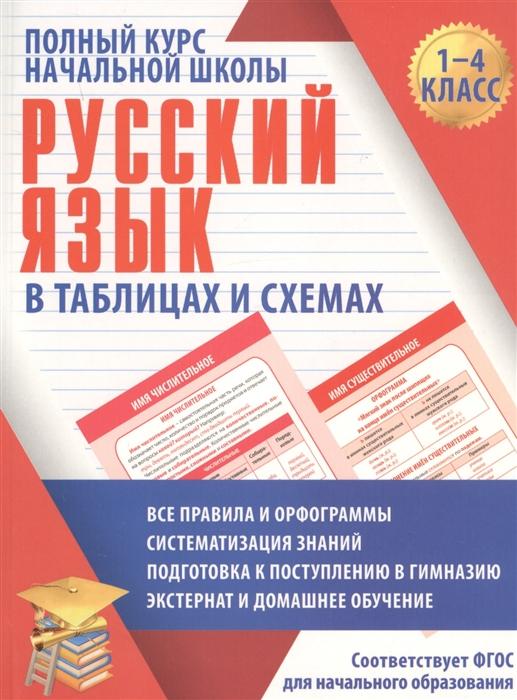 Русский язык. 1-4 кл.: Полный курс начальной школы в таблицах и схемах