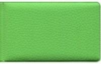 Визитница гориз зеленая ПВХ