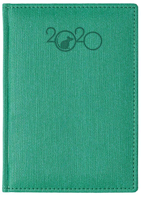 Ежедневник А6 2020г CORDUROY Символ года-2020 Зеленый
