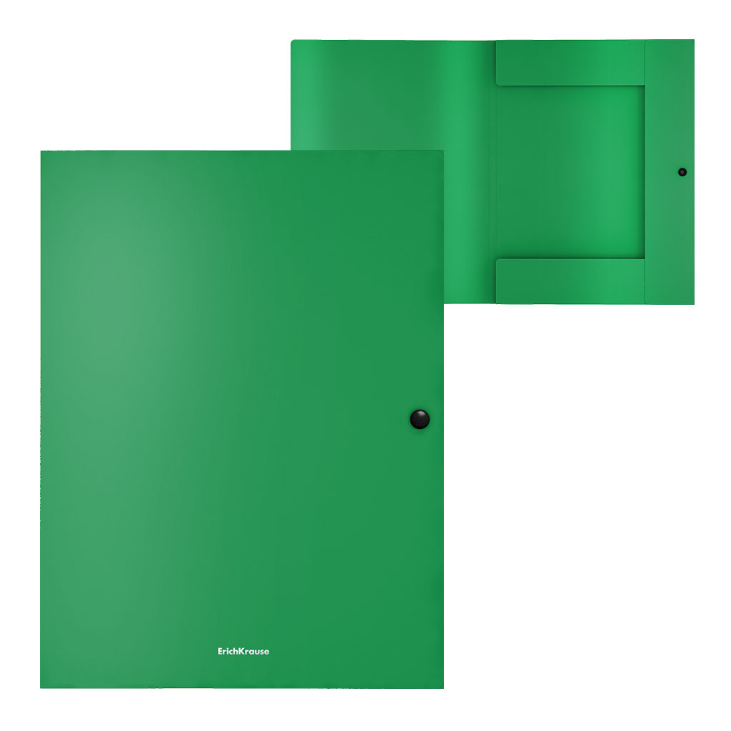 Папка на кнопке А4 EK Matt Classic зеленый