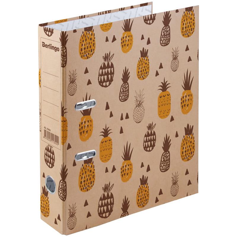 Папка-регистратор 70мм с рис Pineapple крафт