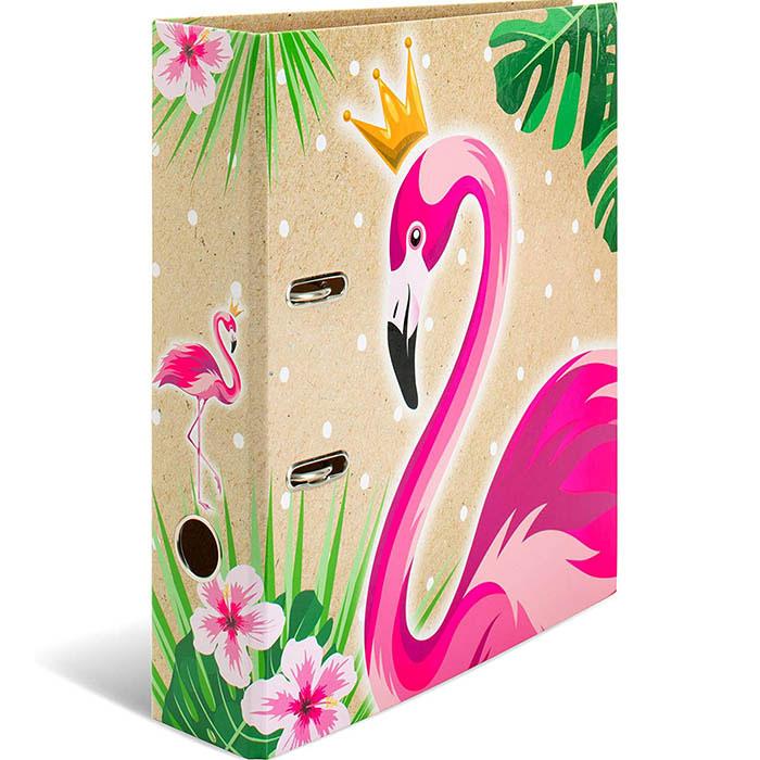 Папка-регистратор 70мм с рис Тропики Королева Фламинго
