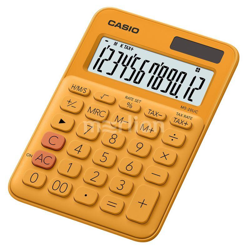 Калькулятор 12 разр. Casio настольный оранжевый