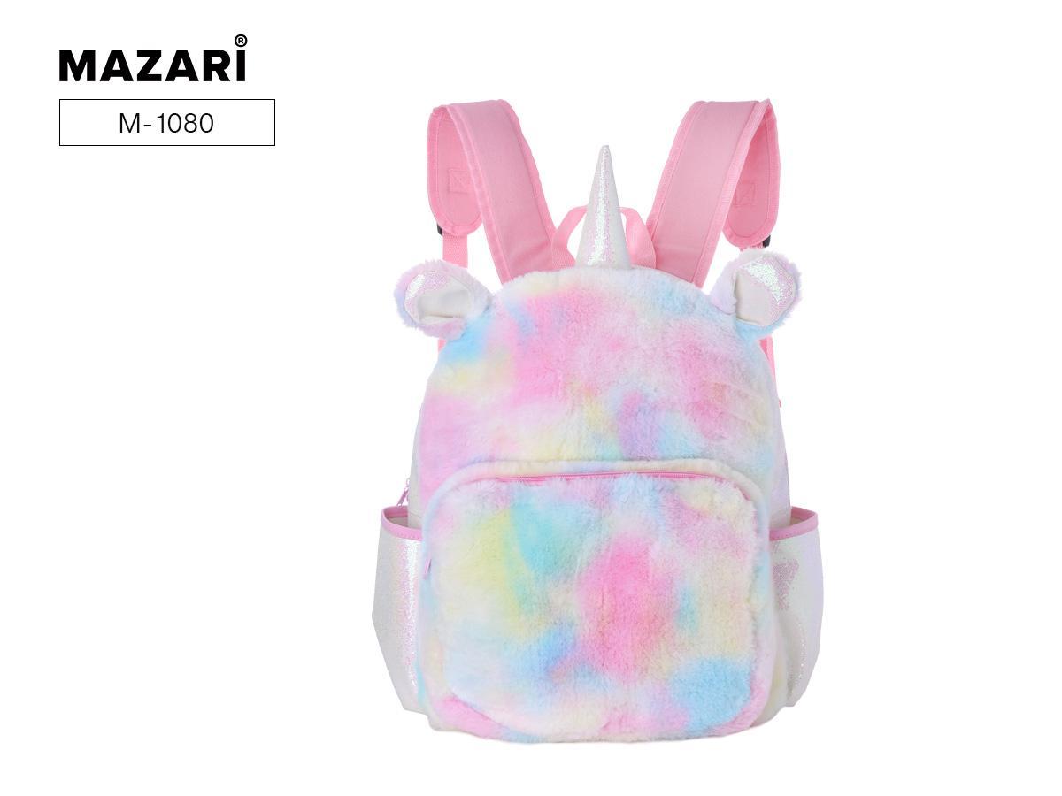 Рюкзак молодежный Mazari Gentle единорог тканевый меховой