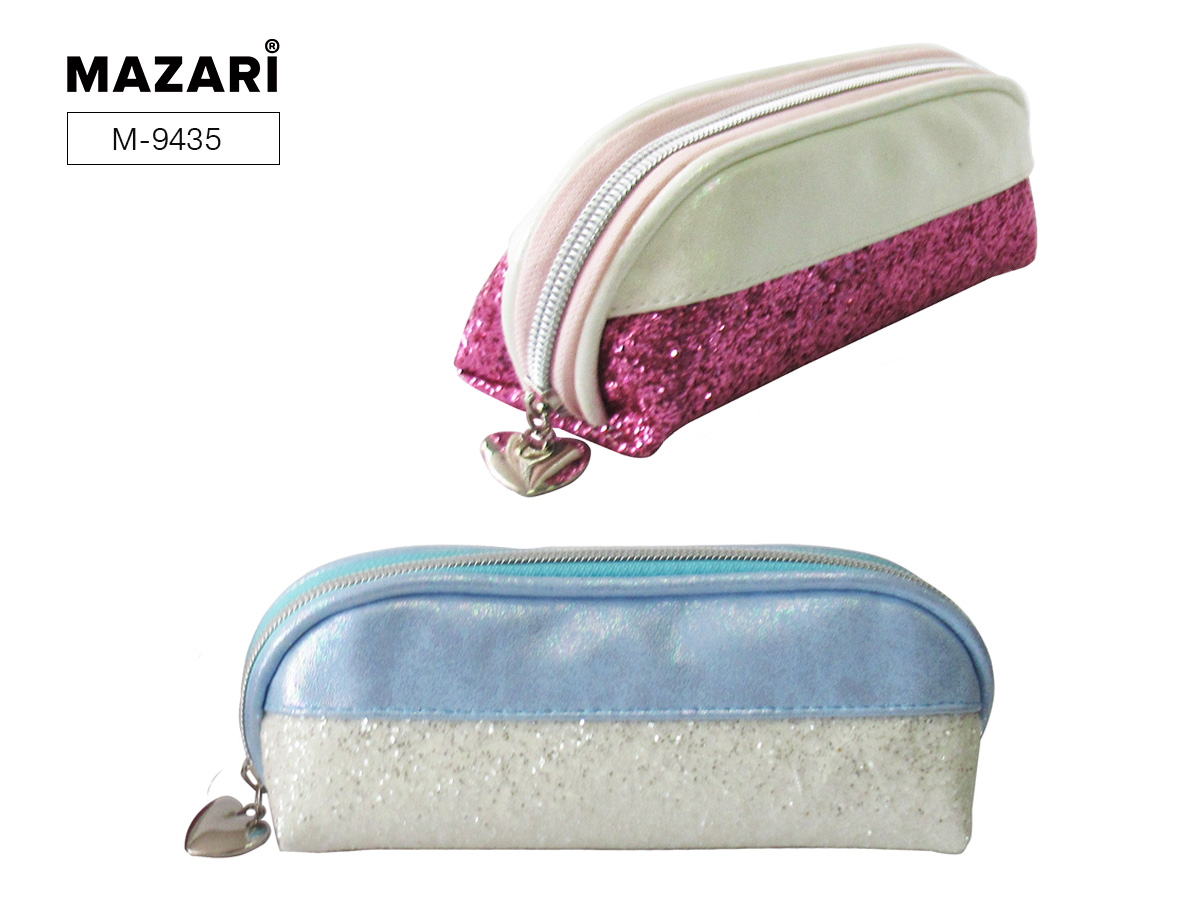 Пенал-косметичка Mazari Mirage M ассорти розовый/голубой блестки